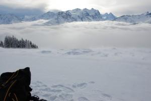 Aussicht über dem Nebel